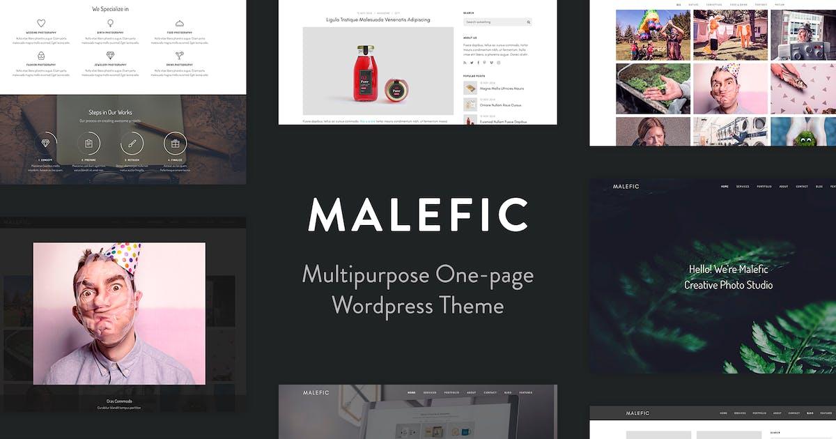 Download Malefic - One Page Responsive WordPress Theme by tommusrhodus