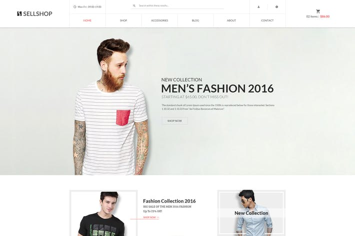 Cover Image For SellShop - eCommerce PSD Template