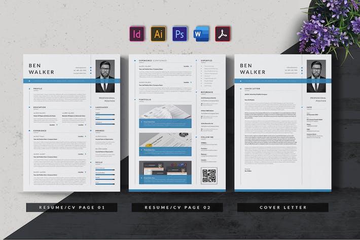 Thumbnail for Resume & CV Minimalist - Antemp