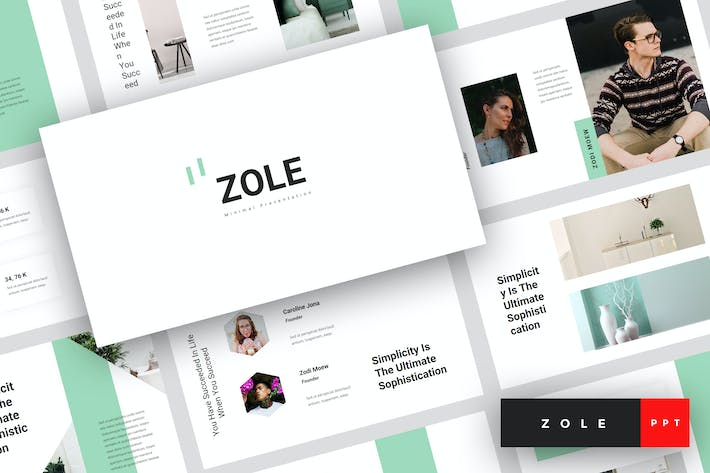 Thumbnail for Zole - Minimal PowerPoint Template