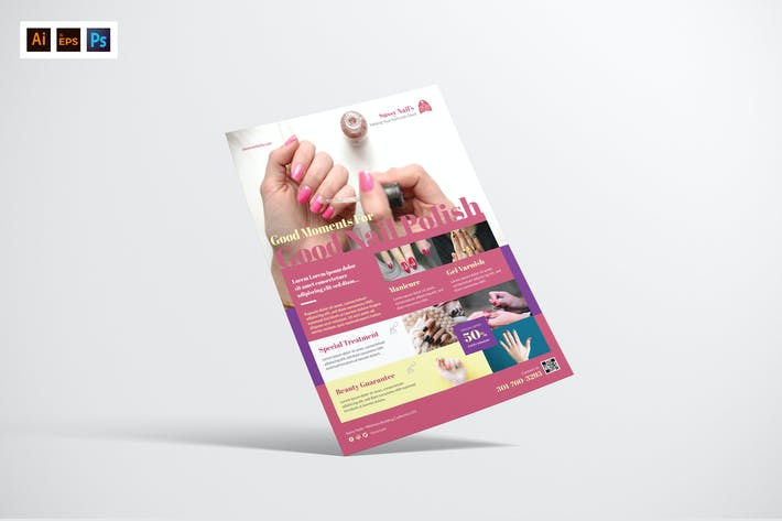 Nail Salon Flyer Design