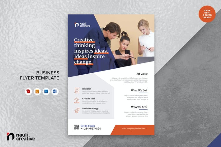 Cover Image For Corporate Business Flyer AI, DOC, & PSD Vol.10