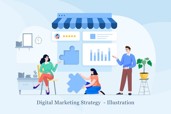 Thumbnail for Digital Marketing Strategy Illustration