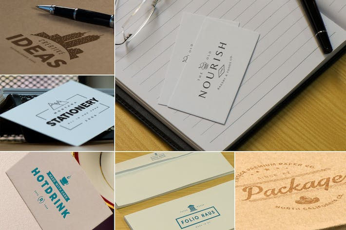 Thumbnail for Photorealistic Paper Logo Mockups
