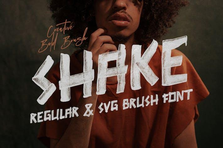 Thumbnail for SHAKE Brush & SVG Font