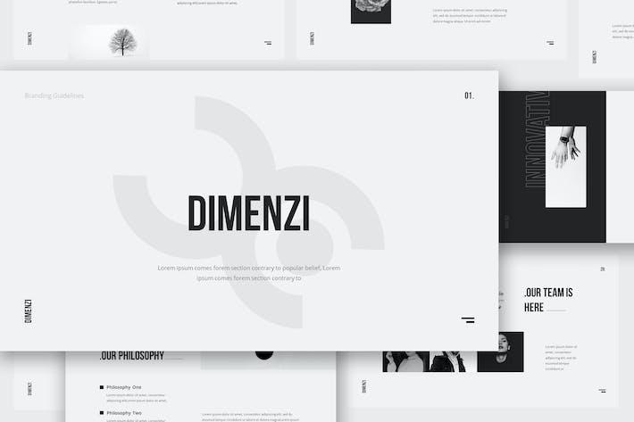 Thumbnail for Dimenzi Branding Guidelines Google Slides Template