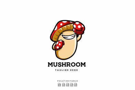 Mushroom Logo Template