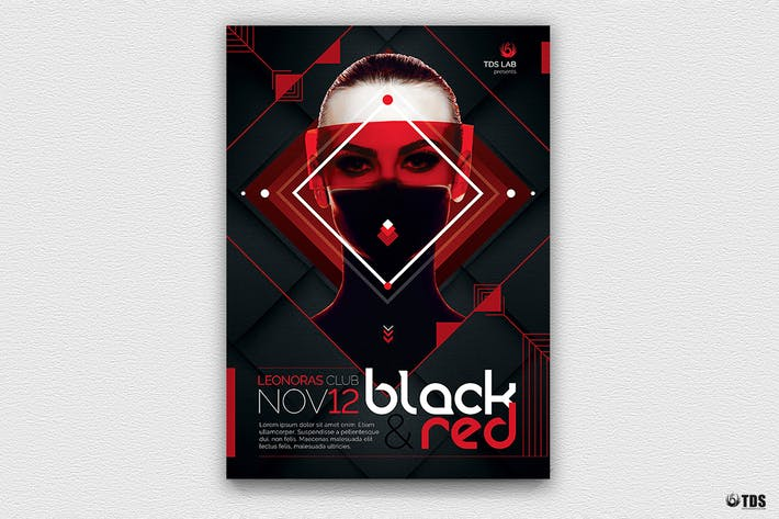 Thumbnail for Black and Red Flyer Template V4