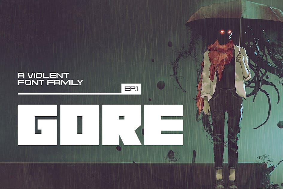 Download Gore Typeface by MehmetRehaTugcu