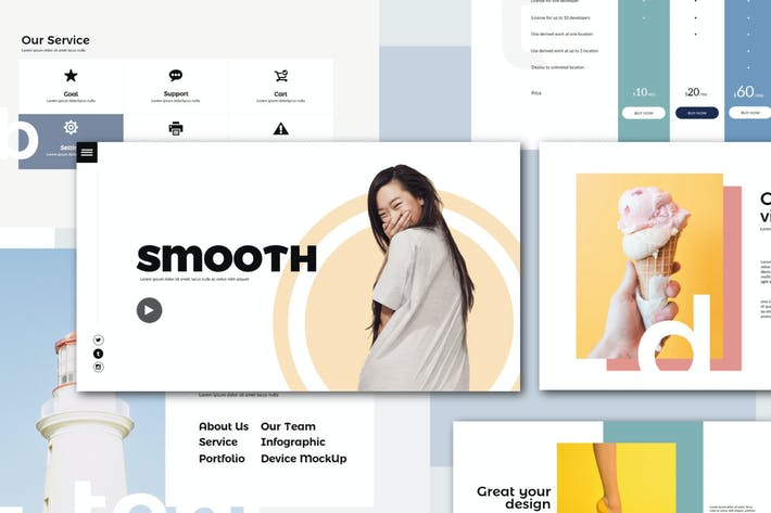 Thumbnail for Smooth | Google Slides