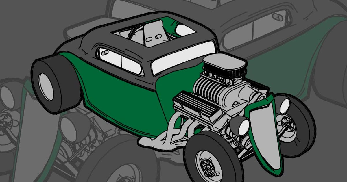 Download Classic Hotrod Car by gblack-id
