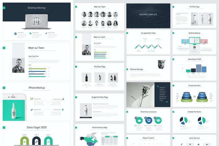 Thumbnail for BusiPro : Clean & Minimal PowerPoint Template