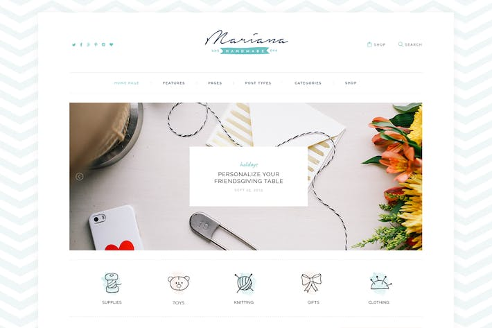 Thumbnail for Melania | Handmade Blog & Shop WordPress Theme