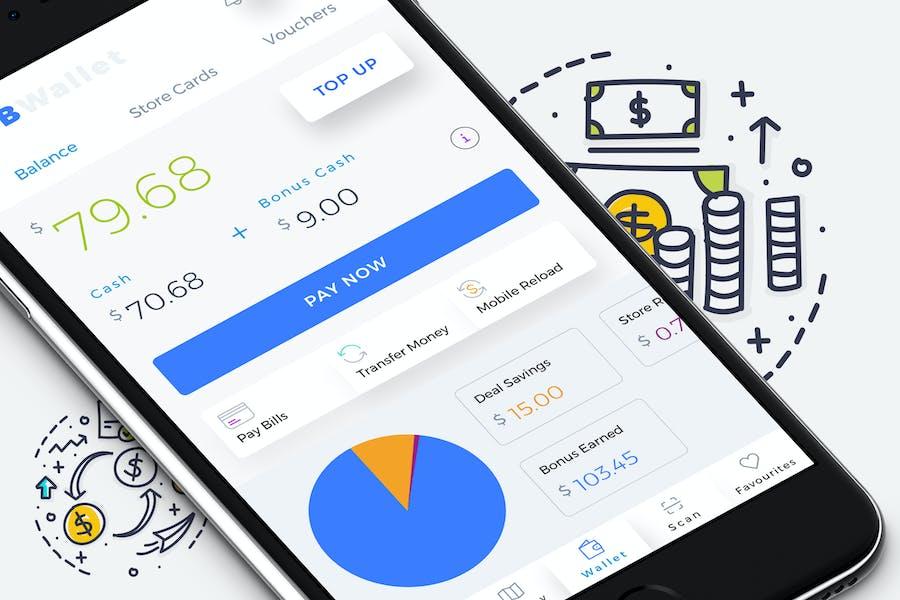 B Wallet Dashboard 4 Mobile Ui