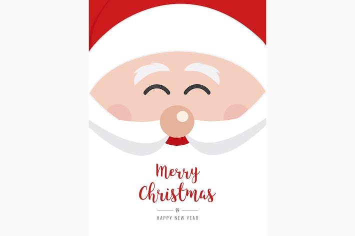 Thumbnail for Santa claus face smile christmas greeting vector