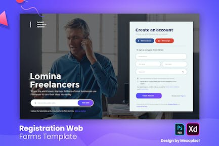 Lomina - Registration Web Forms Template