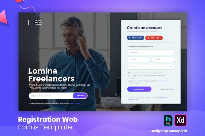 Thumbnail for Lomina - Registration Web Forms Template