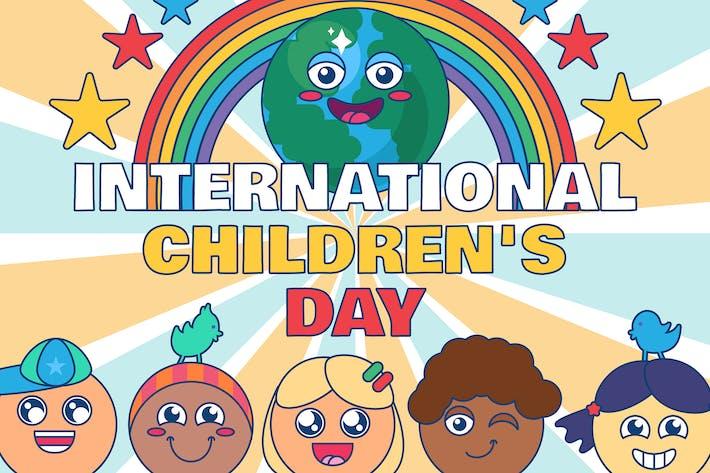 Thumbnail for International Children's Day Illustration