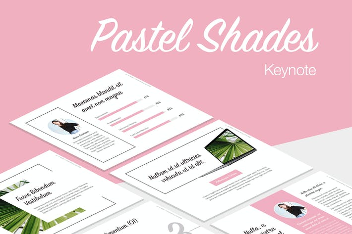 Cover Image For Pastel Shades Keynote Template