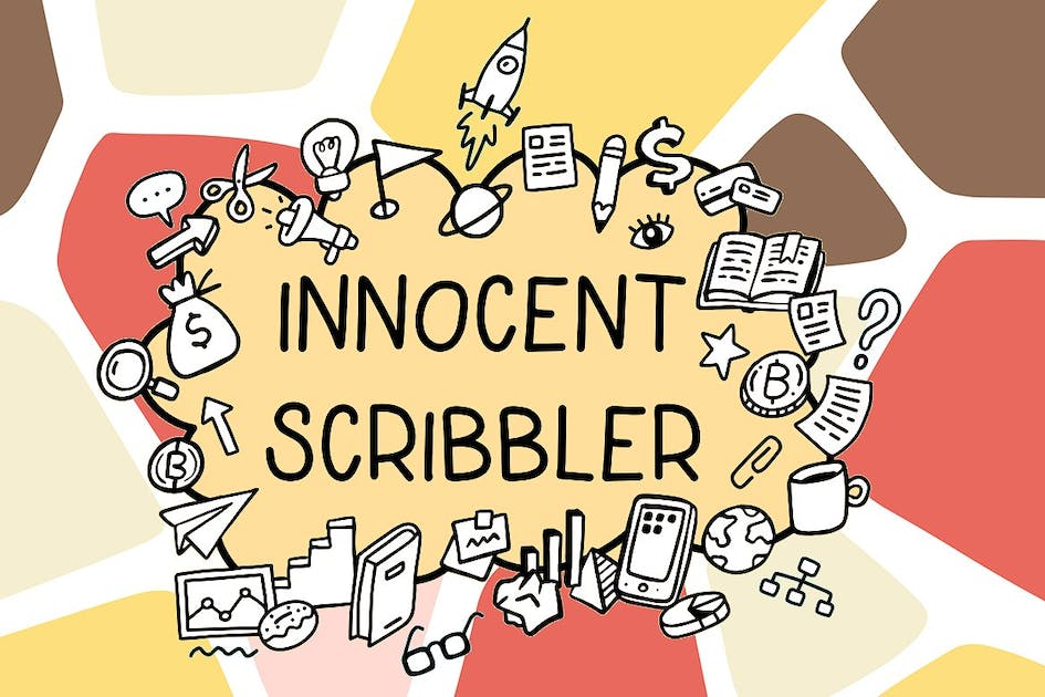 Download Innocent scribbler| font with doodle icons by wowomnom