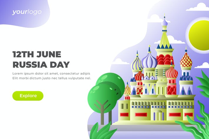 Thumbnail for 12th June Russia Day - Vector Illustration