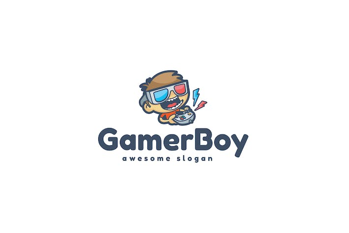Thumbnail for Gamer Boy Logo Template