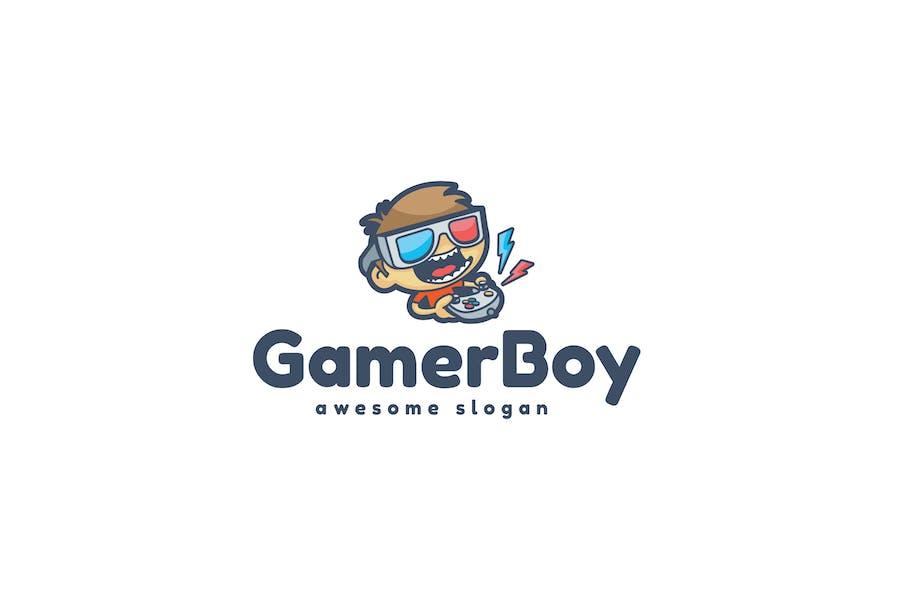Gamer Boy Logo Template
