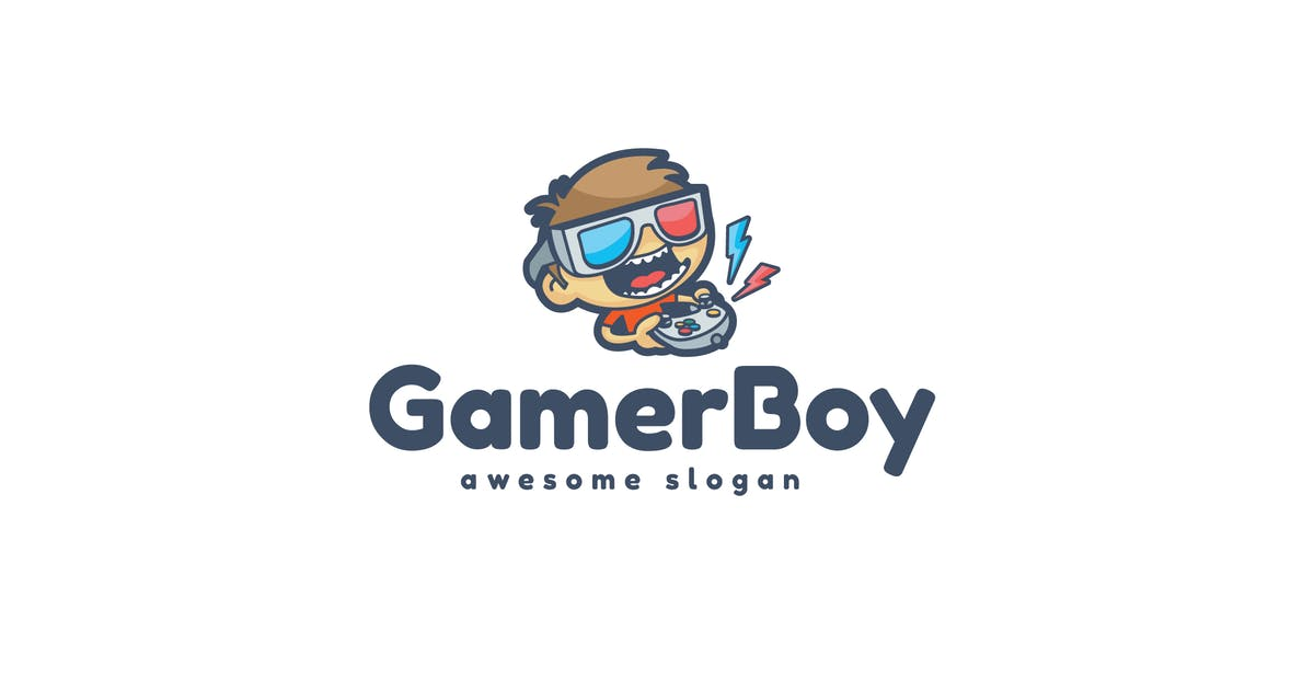 Download Gamer Boy Logo Template by Be_Themes