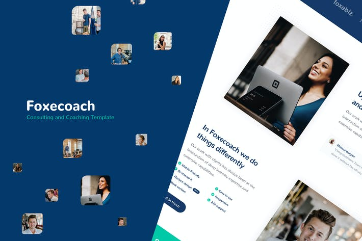 Thumbnail for Foxecoach - Consulting and Coaching Template