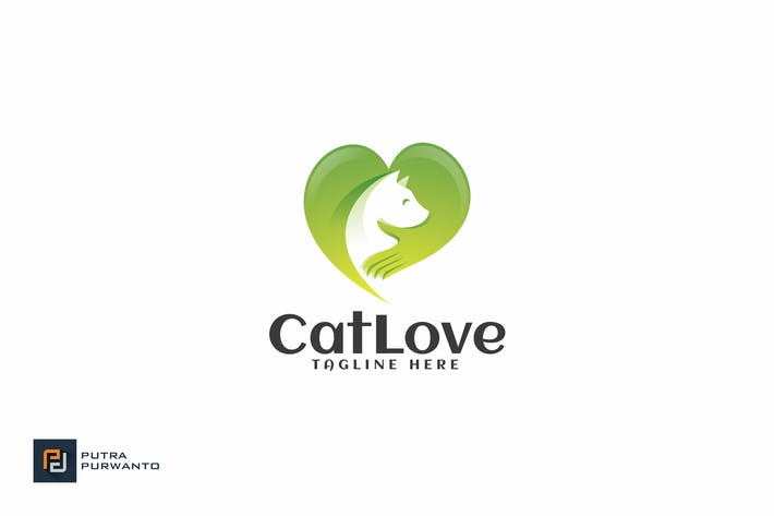 Thumbnail for Cat Love - Logo Template