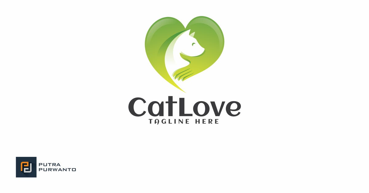 Download Cat Love - Logo Template by putra_purwanto