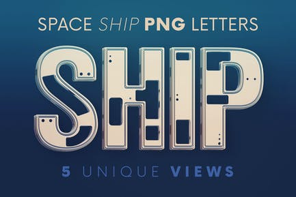 Space Ship - 3D Lettering