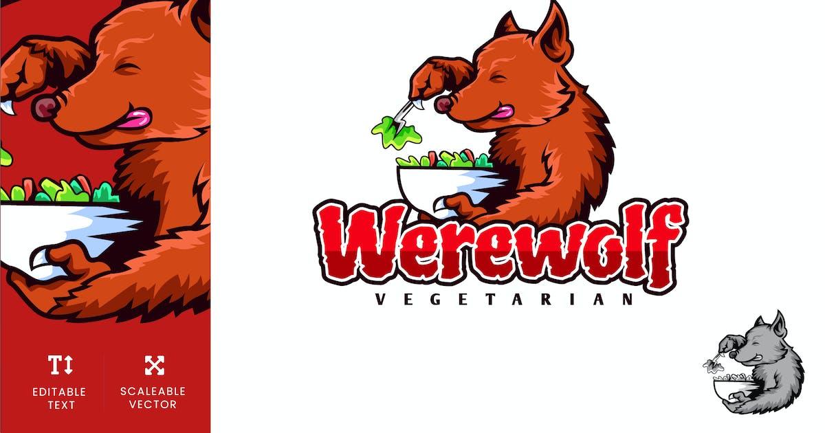 Download Werewolf Vegetarian Diet Logo Illustration Vector by naulicrea