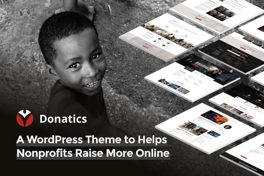 Donatics - Charity & Fundraising WordPress Theme