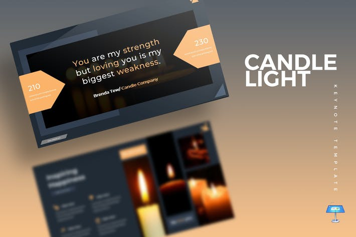 Thumbnail for Cande Light - Шаблон Keynote