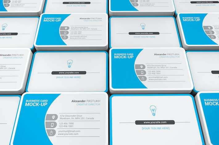 Cover Image For Business Card Mockups