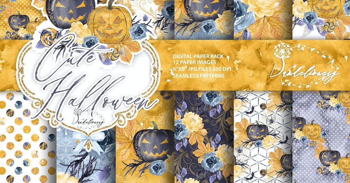 Download Cute Halloween digital paper by designloverstudio