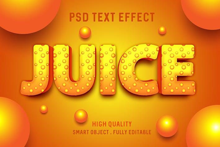 Эффект текста сока