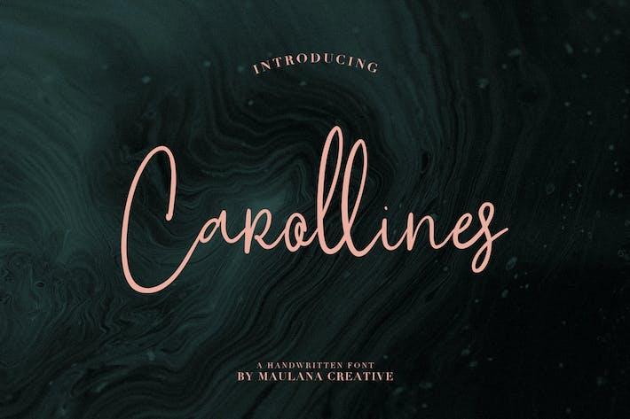 Thumbnail for Carollines Script Font