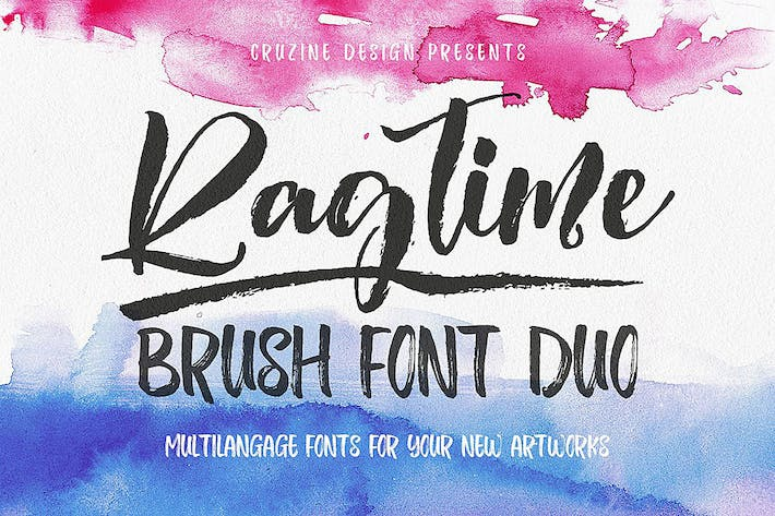 Thumbnail for Ragtime - Brush Font Duo