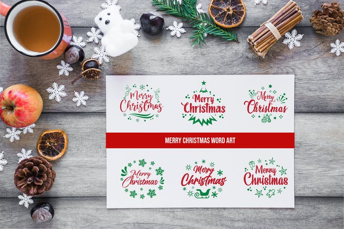 Sets of Christmas Typography