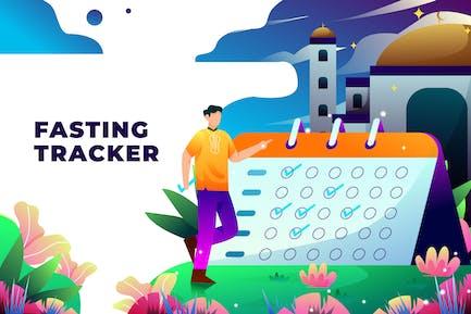 Fasting Tracker - Vector Illustration