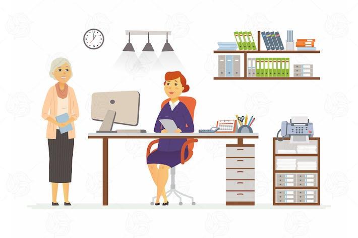 Thumbnail for Office-Szene - Vektor Cartoon-Illustration