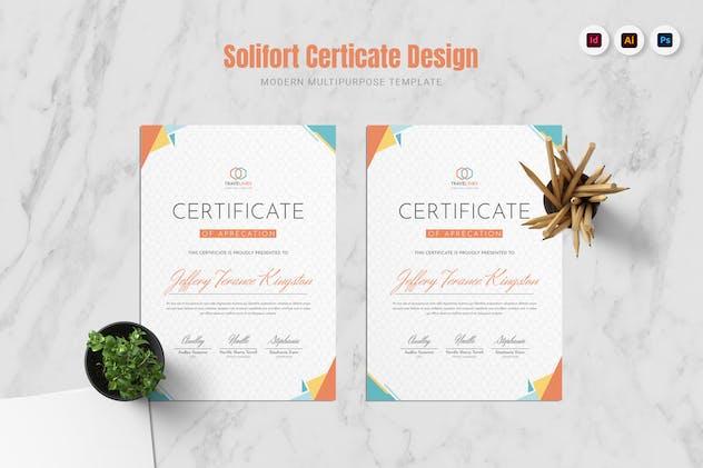 Solifort Certificate
