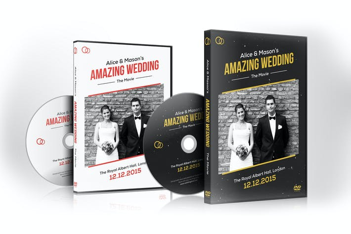 Cover Image For Wedding DVD / Blu-ray Covers with Disc Labels