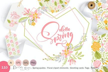 Fresh Feeling Spring Vektor Kit SVG