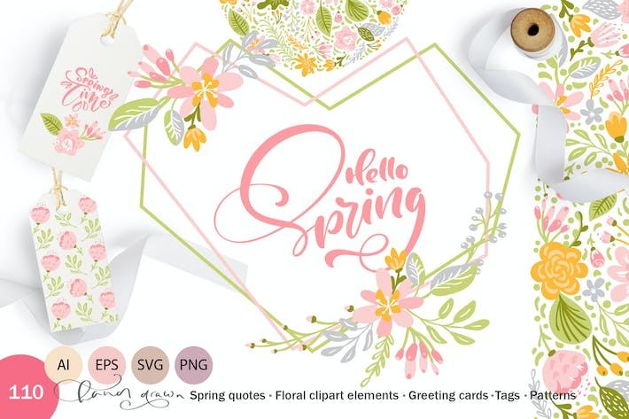 Thumbnail for Fresh Feeling Spring Vector Kit SVG