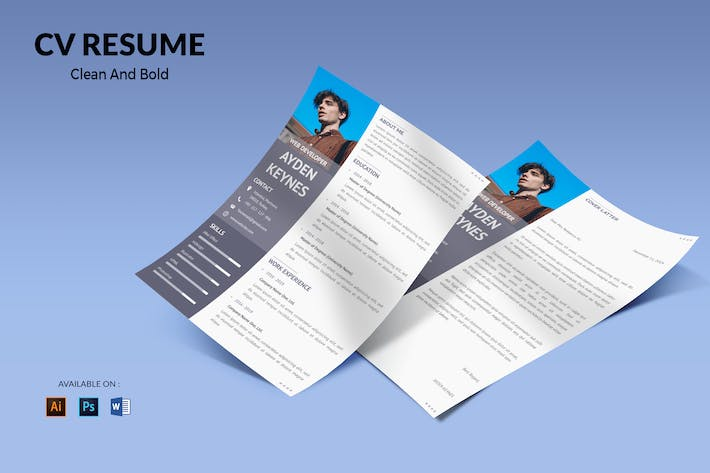 Thumbnail for CV Resume Simple And Elegant