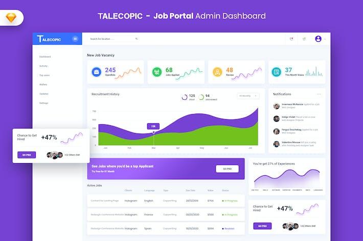 Thumbnail for Talecopic - Job Portal Admin Dashboard UI (SKETCH)