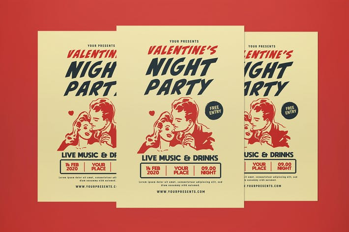 Thumbnail for Valentinstag Nacht Party Flyer